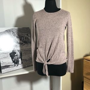 Tops - Pink/grey speckled knit top